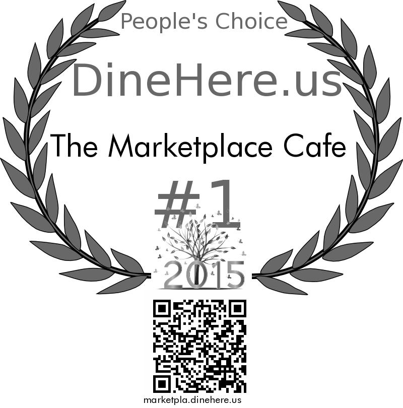 The Marketplace Cafe DineHere.us 2015 Award Winner