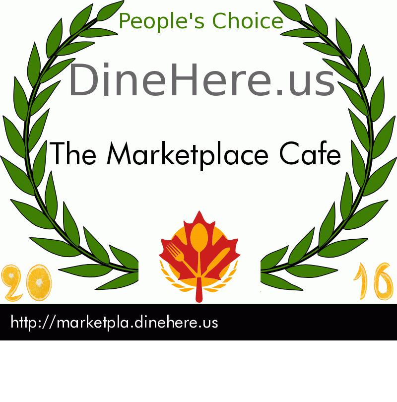 The Marketplace Cafe DineHere.us 2016 Award Winner